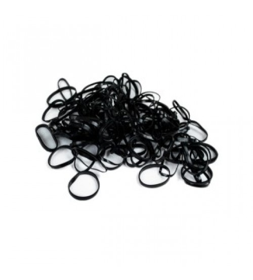 Elastic par silicon negru 180/set
