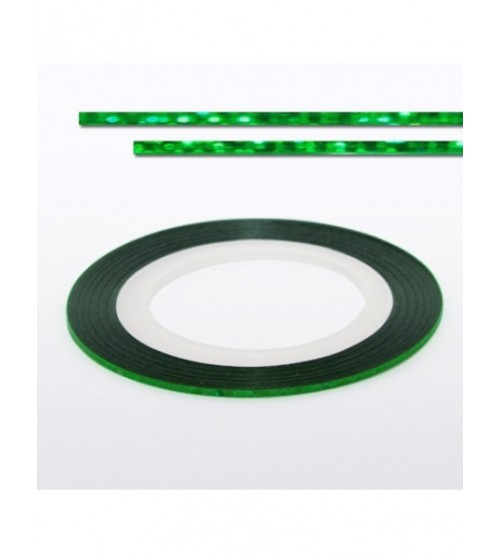 Banda decorativa unghii - Laser Green