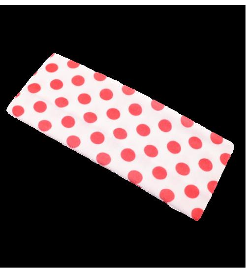 Banderola lata - Alb buline Rosii