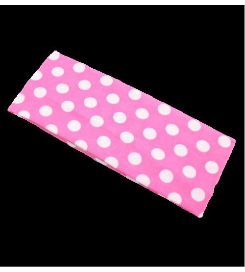 Banderola lata - Roz buline Albe