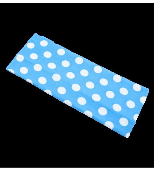 Banderola lata - Albastru buline Albe