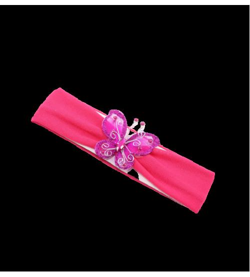 Banderola copii cu Fluture - Roz