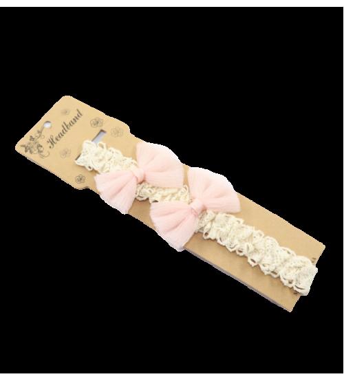 Bentita pentru copii Dantela 2 Fontite - Roz prafuit