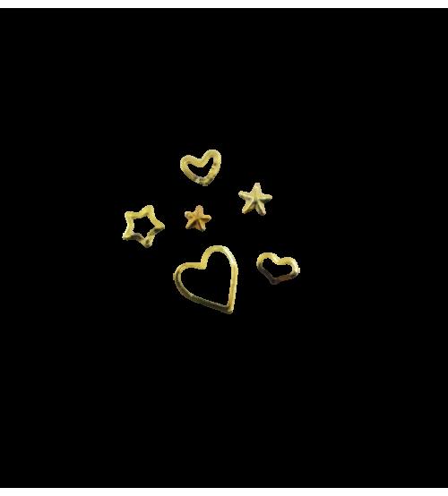 Ornamente metalice 6 modele/set Auriu Love