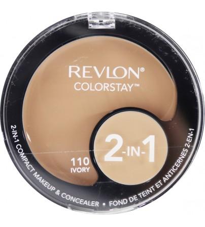 Fond de ten compact si corector Revlon Colorstay 2in1 110 Ivory
