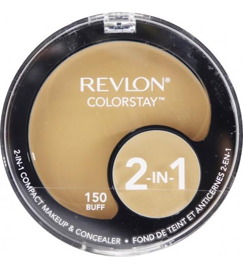 Fond de ten compact si coretor Revlon Colorstay 2in1 115 Buff