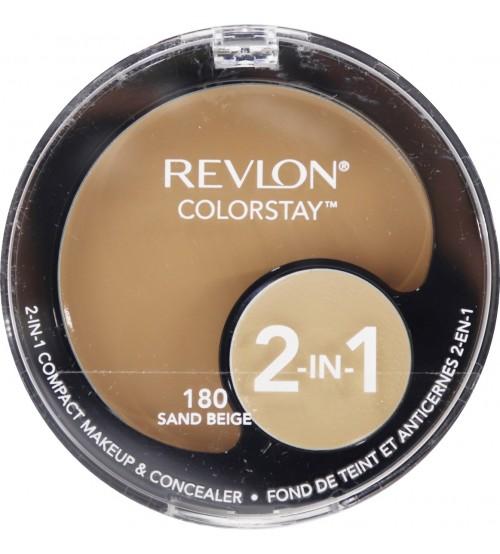 Fond de ten compact si corector Revlon Colorstay 2in1 180 Sand Beige
