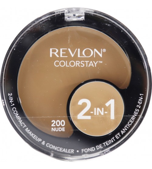 Fond de ten compact si corector Revlon Colorstay 2in1 200 Nude