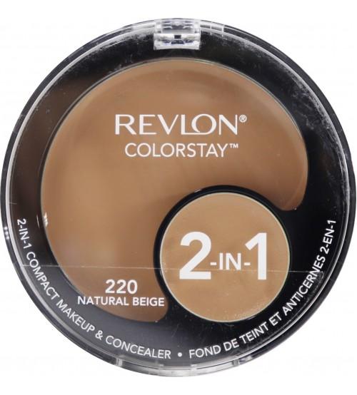 Fond de ten compact si corector Revlon Colorstay 2in1 220 Natural Beige
