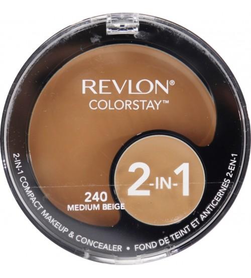 Fond de ten compact si corector Revlon Colorstay 2in1 240 Medium Beige