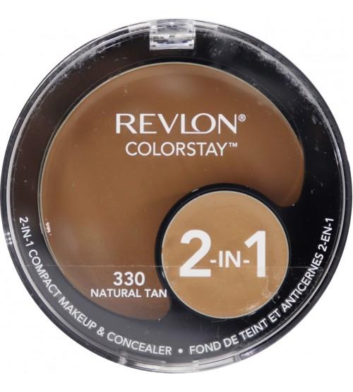 Fond de ten compact si coretor Revlon Colorstay 2in1 330 Natural Tan