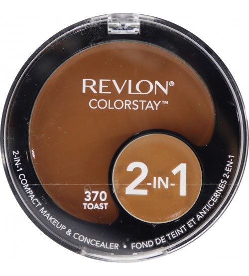Fond de ten compact si corector Revlon Colorstay 2in1 370 Toast