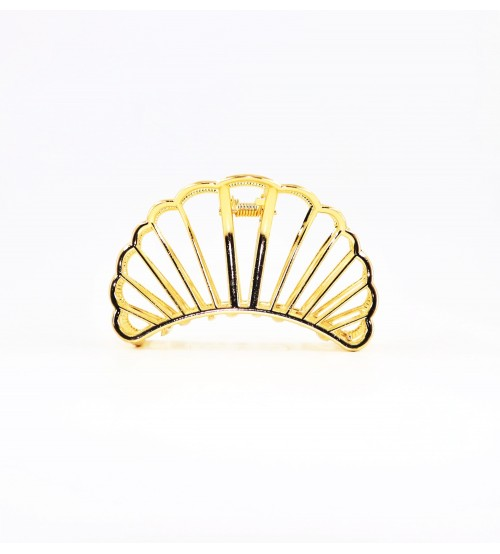 Cleste metal pentru par Semicerc Auriu
