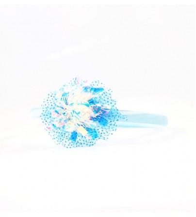 Cordeluta copii #442 sclipici aplicatie florala Albastru