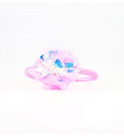 Cordeluta copii #442 aplicatie florala Roz Deschis