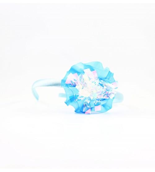 Cordeluta copii #442 aplicatie florala Albastru