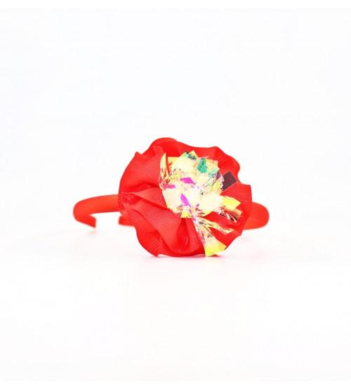 Cordeluta copii #442 aplicatie florala Rosu