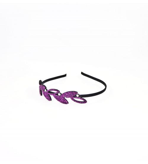 Cordeluta #485 frunze cu pietre Violet