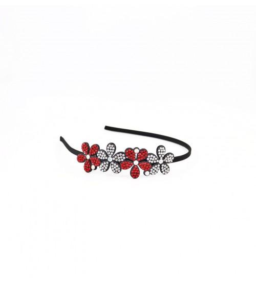 Cordeluta #485 flori cu pietre Rosu