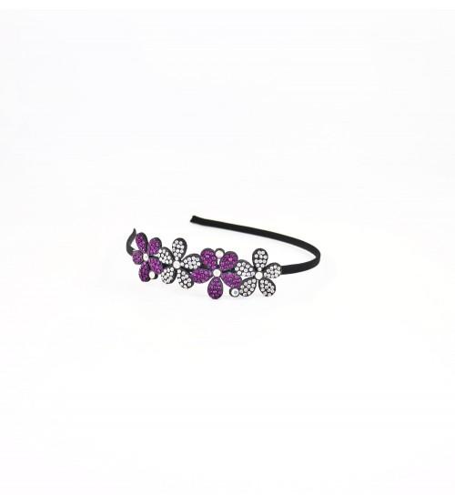 Cordeluta #485 flori cu pietre Violet