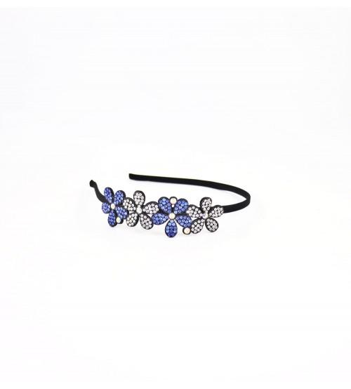 Cordeluta #485 flori cu pietre Albastru