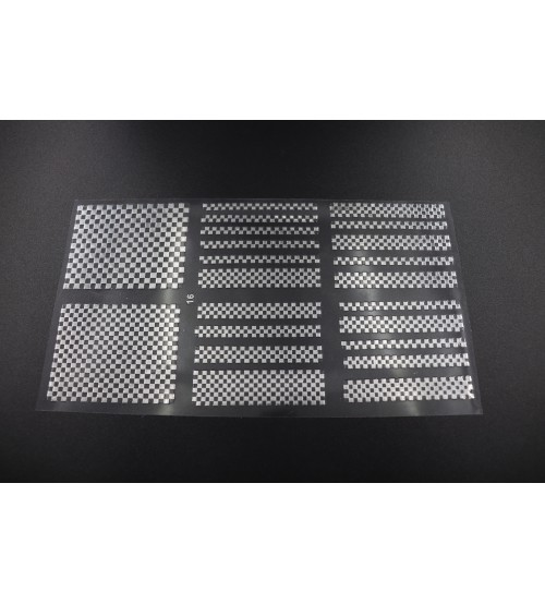 Abtibild unghii 3D Qijie Argintiu16