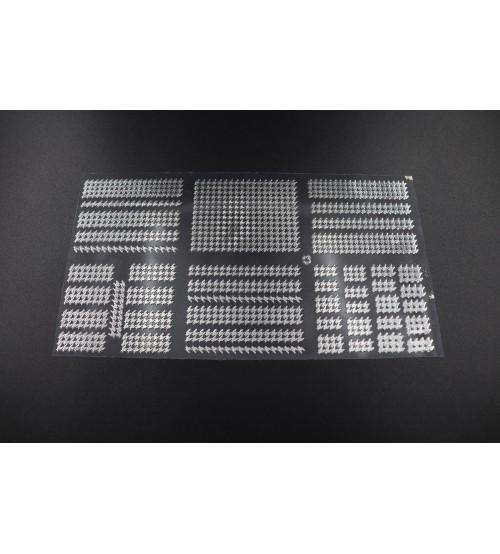 Abtibild unghii 3D Qijie Argintiu13