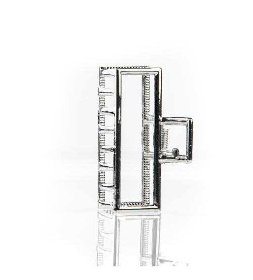Cleste metal pentru par Dreptunghi Argintiu
