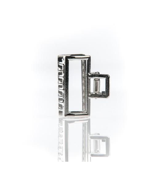 Cleste metal mediu pentru par Dreptunghi Argintiu