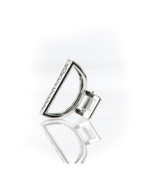 Cleste metal mediu pentru par Semiluna Argintie