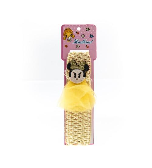 Bentita pentru copii cu aplicatie Minnie Mouse Galben