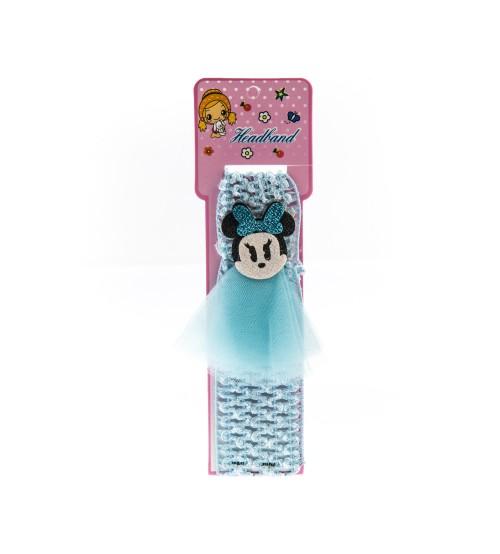 Bentita pentru copii cu aplicatie Minnie Mouse Albastru Deschis