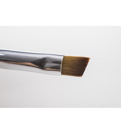 Pensula pentru gel varf diagonal DUO nr. 8