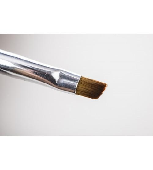 Pensula pentru gel varf diagonal DUO nr. 6