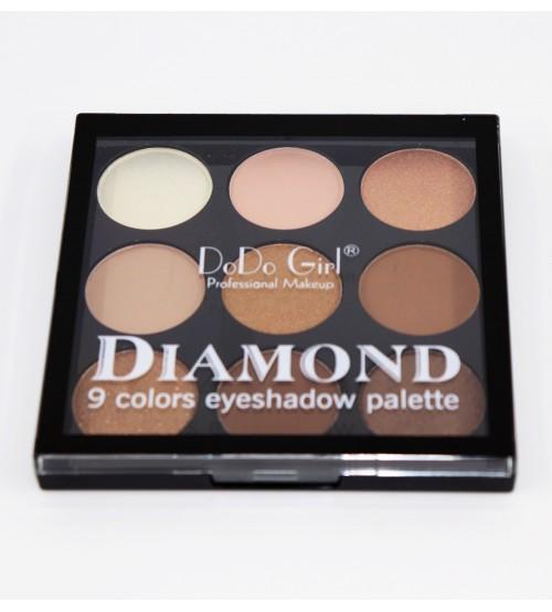 Paleta fard pleoape Dodo Girl Diamond 9 cul - 01